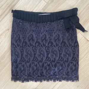 DVF Purple Lace Mini Skirt